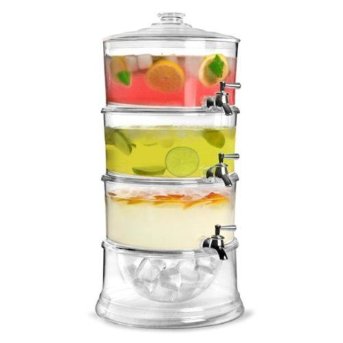 Babz 3-Tier Cold Beverage Dispenser with Ice Storage - 3.5 litres per tier