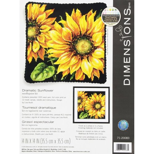 * Dimensions Needlepoint Kit -Dramatic Sunflower