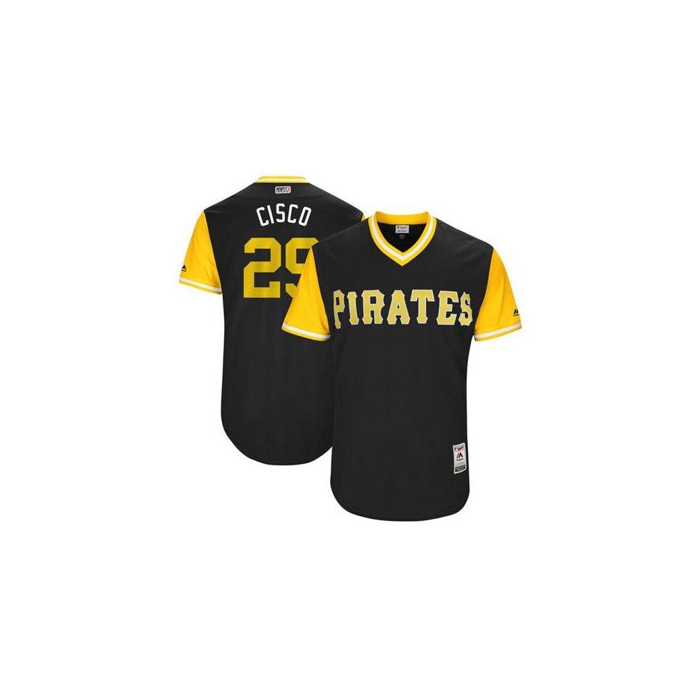5d12aee729b ... Pittsburgh Pirates Cool Base MLB Custom Players Weekend Jersey - 2 ...