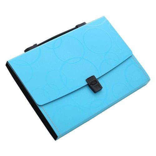 13 Pockets Portable File Holder A4 Document Organizer Information Bag-Blue