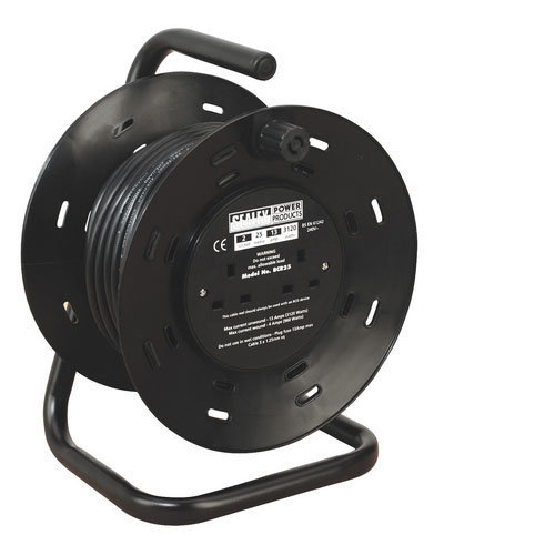 Sealey BCR25 25mtr Cable Reel 2 x 230V
