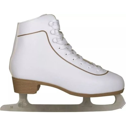 Nijdam Women's Figure Skates Classic Leather Size 43 Skating Boots 0043-WIT-43