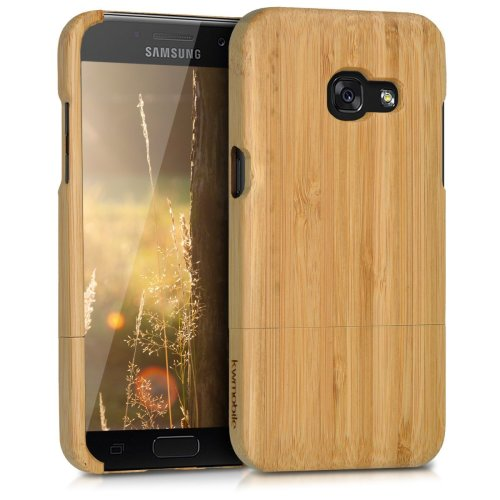kwmobile Samsung Galaxy A3 (2017) Bamboo Wood Case - Natural Solid Hard Wooden Protective Cover for Samsung Galaxy A3 (2017)