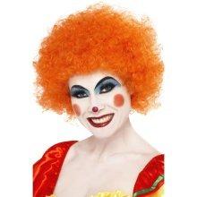 Smiffys Crazy Clown Wig - Orange -  wig clown orange fancy dress afro crazy unisex smiffys curly costume disco 70s party accessory