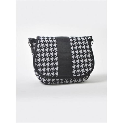 Nupouch 0129 Black And White Houndstooth Crossbody Purse Women
