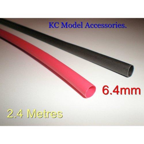 Heat Shrink Tubing Sleeve Wrap Black & Red 6.4mm x 2.4 metres Long in Total.