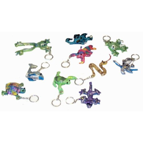 72 Sand Animal Keychains