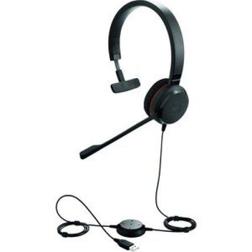 Jabra Evolve 30 Ii Wired Mono Headset Over-The-Head Supra-Aural Mini-Phone 5393-823-309