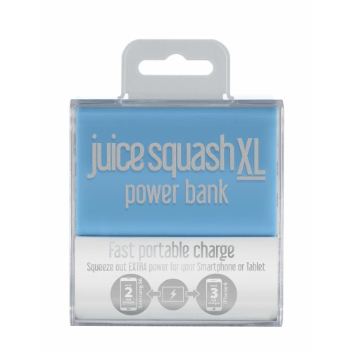 Juice Squash XL Fast Charge Portable Power Bank With Handy Carry Strap