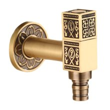 [Square] Brass Antique Faucet Washing Machine Faucet Wall Faucet Kitchen/Garden