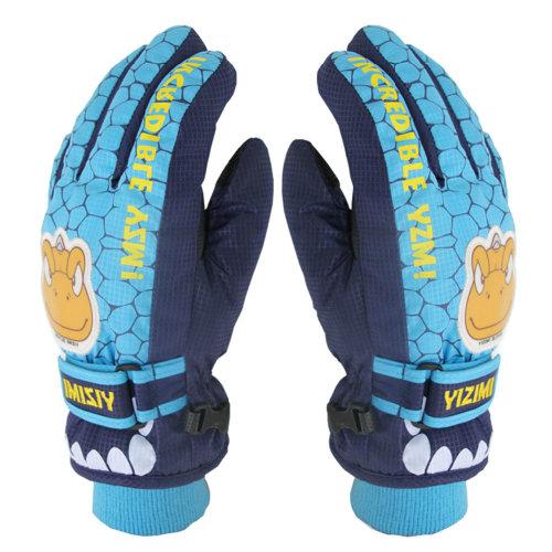 Gon Snow Skiing Ourdoor Winter Gloves Waterproof 8-10 Years Old Blue