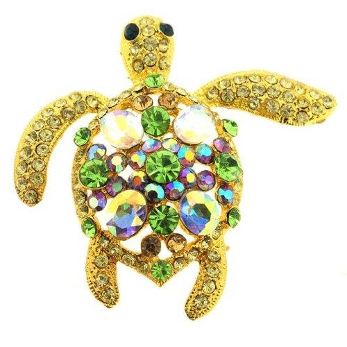 ec31c3c10 Fantasyard Sea Turtle Swarovski Crystal Pin Brooch & Pendant - Multicolor -  2.125 x 2 in. on OnBuy