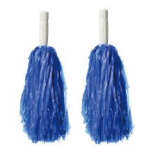 30 CM Long Plastic Cheerleading Poms (Pair), Blue