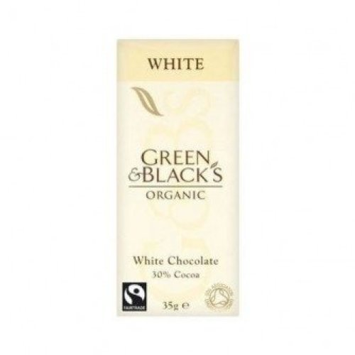 Green & Blacks - White Chocolate Bar 35g (30 pack)