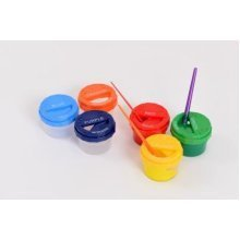 Childrens Set of 6 Non Spill Paint Pots (MM4426)