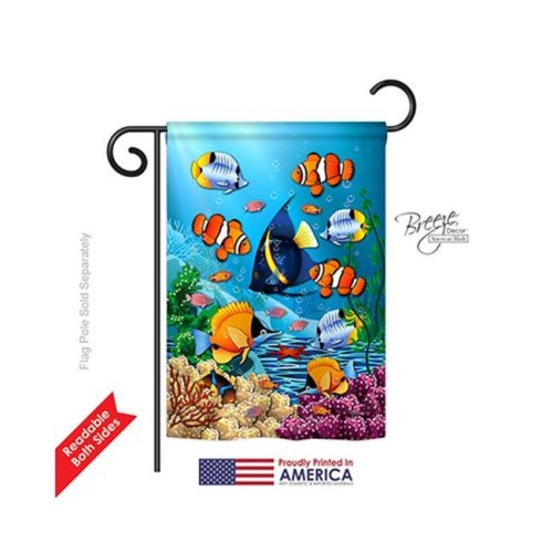 Beach & Nautical Coral Life 2-Sided Impression Garden Flag - 13 x 18.5 in.