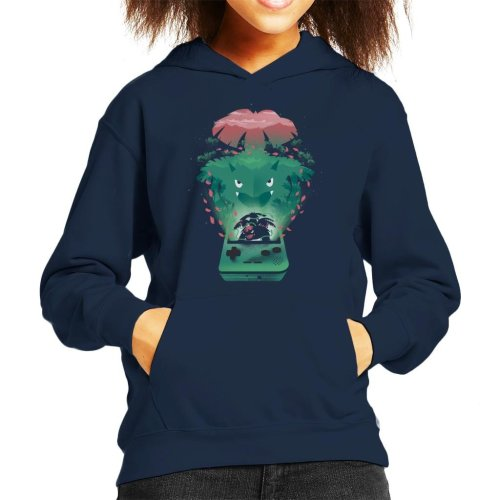 Pokemon Green Montage Kid's Hooded Sweatshirt