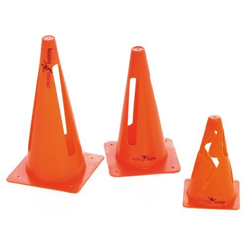 """15"""" Set Of 4 Collapsible Sports Cones - Precision 15 Inch Training Vinyl Orange -  precision collapsible cones 15 inch training vinyl orange marker"""