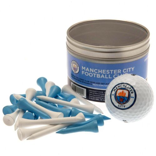Manchester City FC Ball And Tee Set