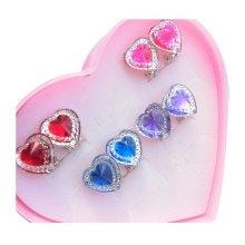 Set of 2 Clip-on Earrings for Kids Clip-on Earrings for Girls [Multicolor]