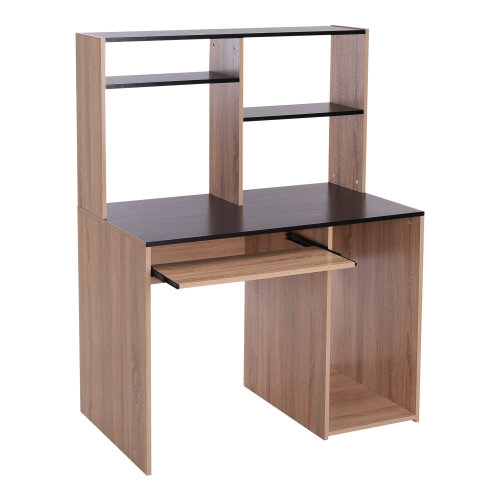Homcom MDF Office Workstation | Computer Desk & Storage Unit
