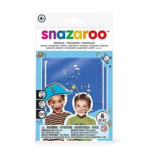 Snazaroo Face Paint Stencil Boy - Adventure - Stencils Boys Painting 6 Make Up -  face snazaroo stencils boys paint painting 6 make up