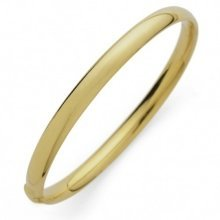 New 9 Ct Gold Filled Classic Round Plain Bangle 65 MM 70MM B7 B8