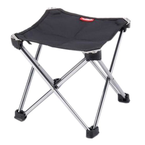 Portable Folding Chair Stool Camping Chairs Fishing Train Travel Paint Outdoor, Medium Black
