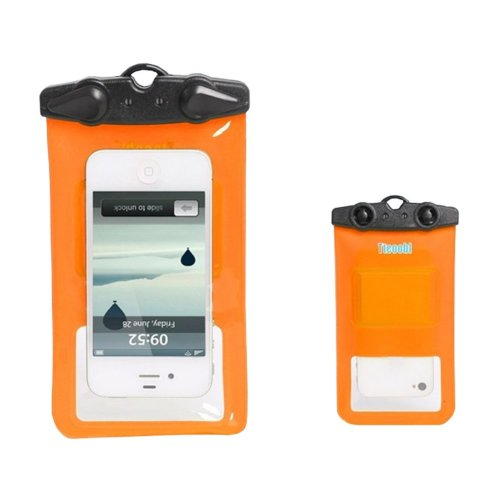 """5.9""""*3.5""""ORANGE Waterproof Underwater Swimming Diving Dry Bag Pouch"""