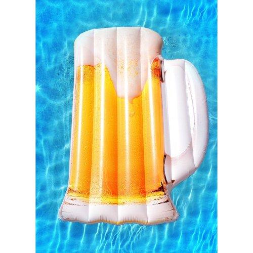 Inflatable Beer Mug Pool Float Beach Holiday Swimming Water Beach
