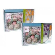 Get Baking Macaroon Recipe Book Gift Set In Gift Box. -  baking recipe book gift set macaroons fancies lets get accessories uk stock bake cake icing