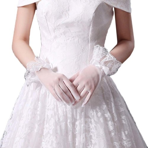 Bridal Wedding Gloves Party Dress Lace Short Gloves B09