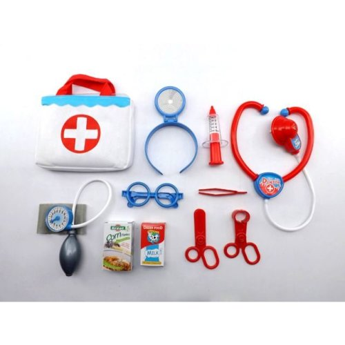 Vinsani Kids Doctors Medical Nurse Pretend Play Toy With Carry Case 11 Pieces