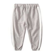 Comfortable Soft Children's Trousers, Light Gray And White