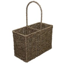 Seagrass Two Bottle Carrier Basket