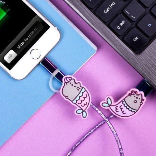 Pusheen Mermaid USB Charging Cable