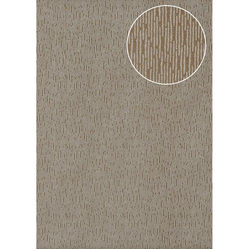 Atlas COL-544-7 Tone on tone wallcovering shimmering beige-grey brown 5.33 sqm