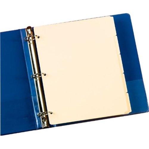 Oxford M1158 Manila Tab Dividers, Blank, Write On - 5 Tab , Pack Of 4