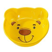 2PCS Children Cartoon Washbasin Thickened Newborn Small Basin[Yellow]