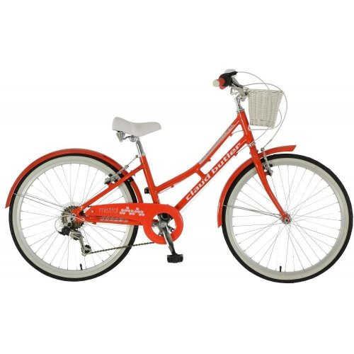 """Claud Butler Mistral Girls 24"""" Wheel 6 Speed Alloy Traditional Heritage Bike Red"""