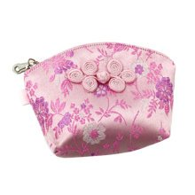 Set of 2 Traditonal Chinese Embroidered Jewelry Coin Pouch Bag Wallet Purses   D
