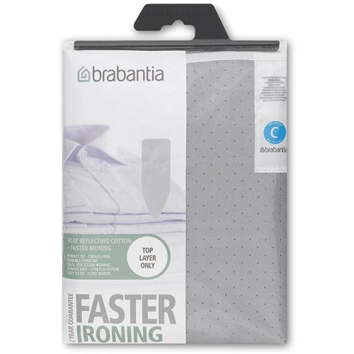 Brabantia Metalised Ironing Board Cover Size C 124cm x 45cm  - Silver