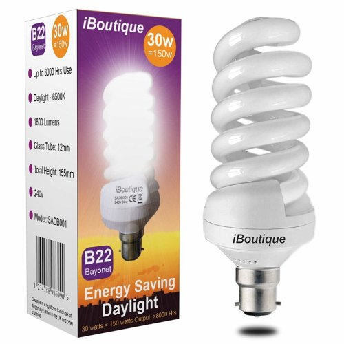 iBoutique 30W Energy-Saving Daylight Bulb | Daylight Light Bulb