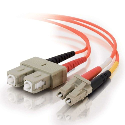 C2G 1m LC/SC LSZH Duplex 50/125 Multimode Fibre Patch Cable 1m (2) LC (2) SC Orange fiber optic cable