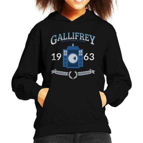 Gallifrey Middle School Doctor Who Kid's Hooded Sweatshirt