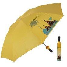 Unique Fashion Gift Bottle Shape Umbrellas Folding Umbrella YELLOW