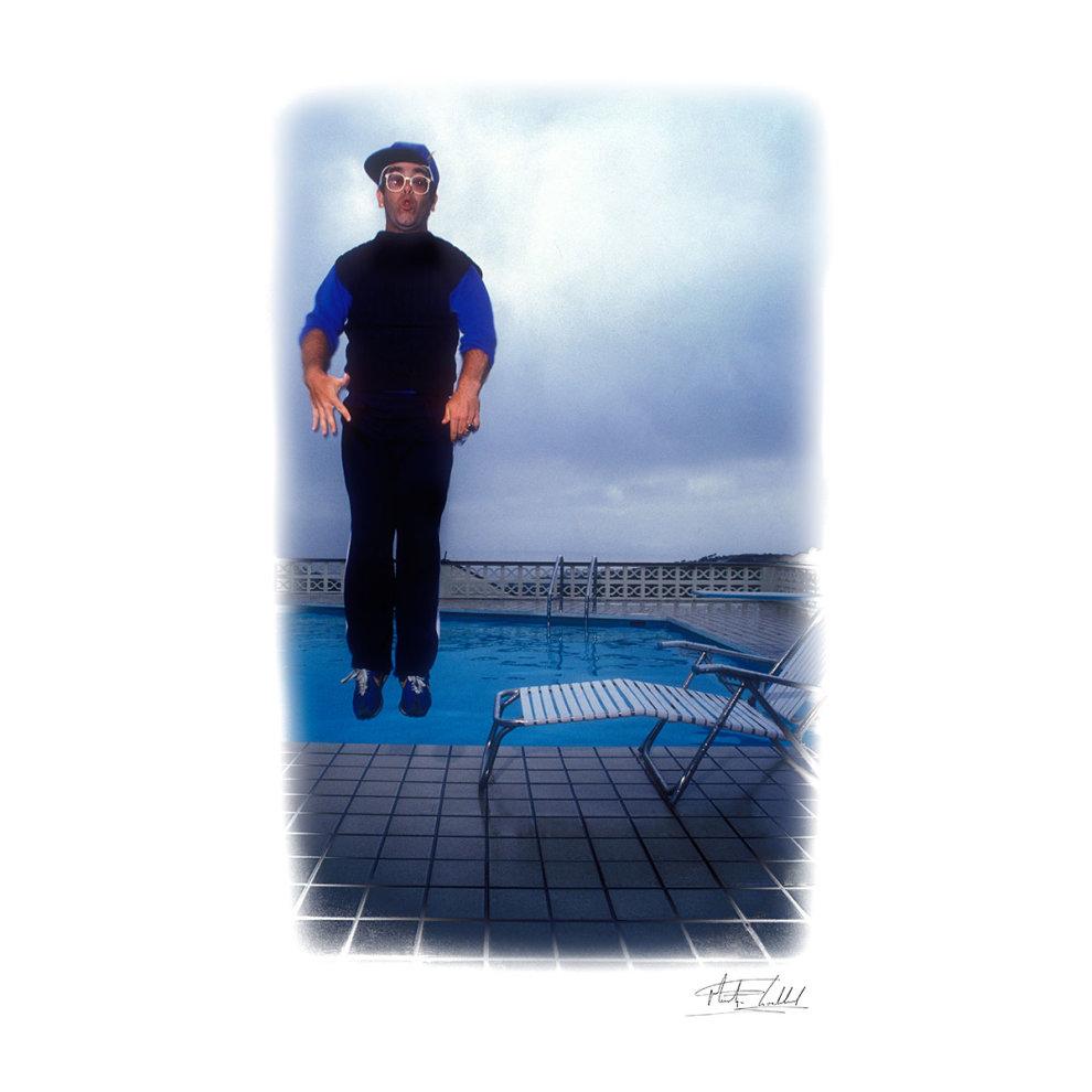 d26653093 ... Martyn Goddard Official Photography - Elton John Jump White Men's  Baseball Long Sleeved T-Shirt ...
