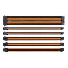 Thermaltake TtMod Sleeved Cable Kit - Black And Orange