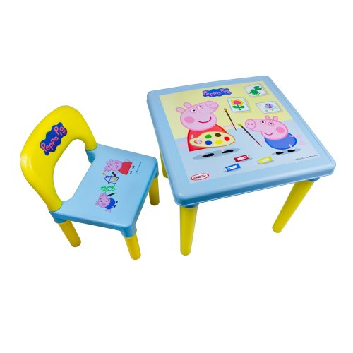 Peppa Pig DARP-CPEP016 My First Activity Table and Chair Set Creative Activity Kit (30-Piece)