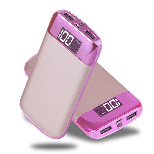 ARIO®20000mAh PowerBank for fast charging of all mobile phones (pink)